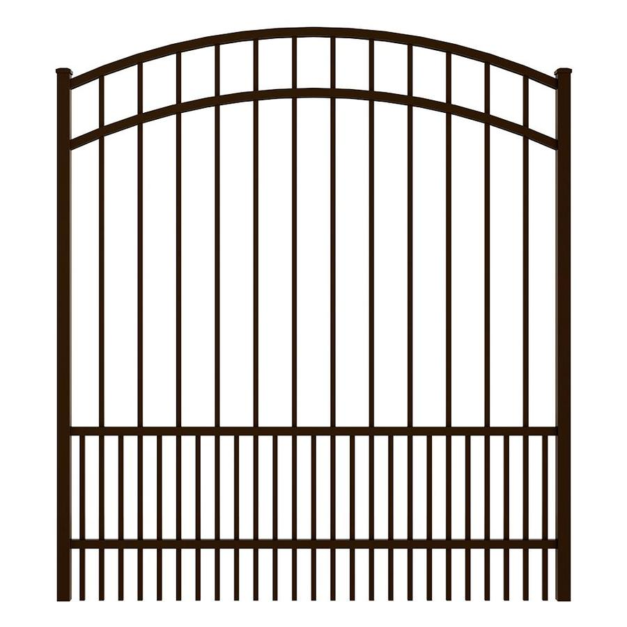 Ironcraft (Common: 5-ft x 5-ft; Actual: 5.5-ft x 4.92-ft) Bronze Powder Coated Aluminum Decorative Fence Gate