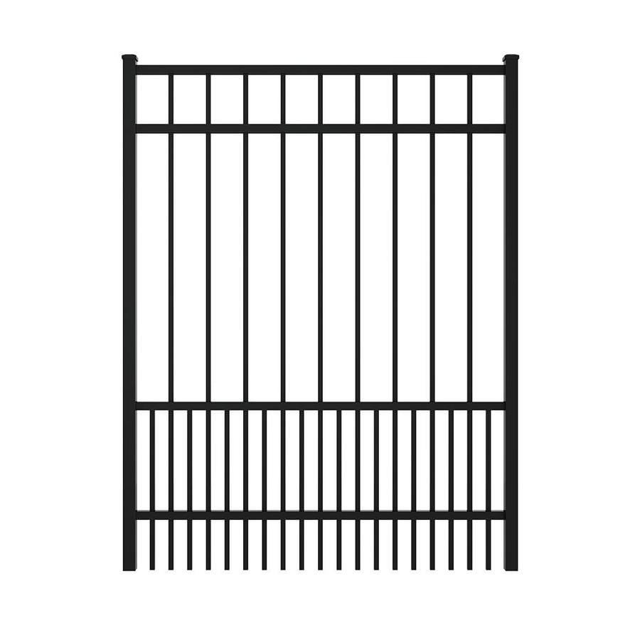 Ironcraft (Common: 5-ft x 4-ft; Actual: 5.08-ft x 3.9-ft) Black Powder Coated Aluminum Decorative Fence Gate