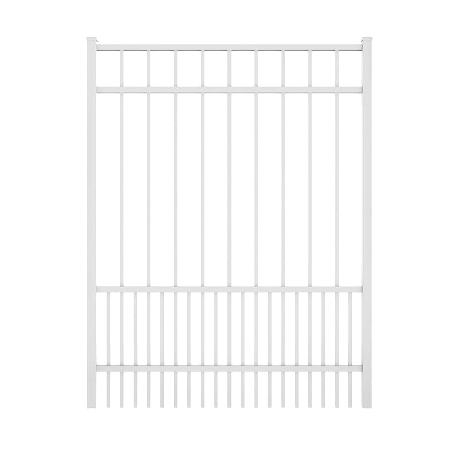 Ironcraft (Common: 5-ft x 4-ft; Actual: 5.08-ft x 3.9-ft) White Powder Coated Aluminum Decorative Fence Gate