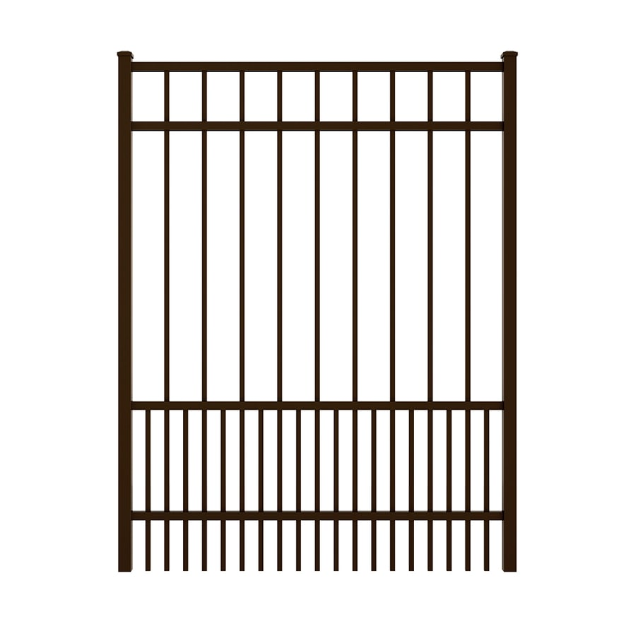 Ironcraft (Common: 5-ft x 4-ft; Actual: 5.08-ft x 3.9-ft) Bronze Powder Coated Aluminum Decorative Fence Gate