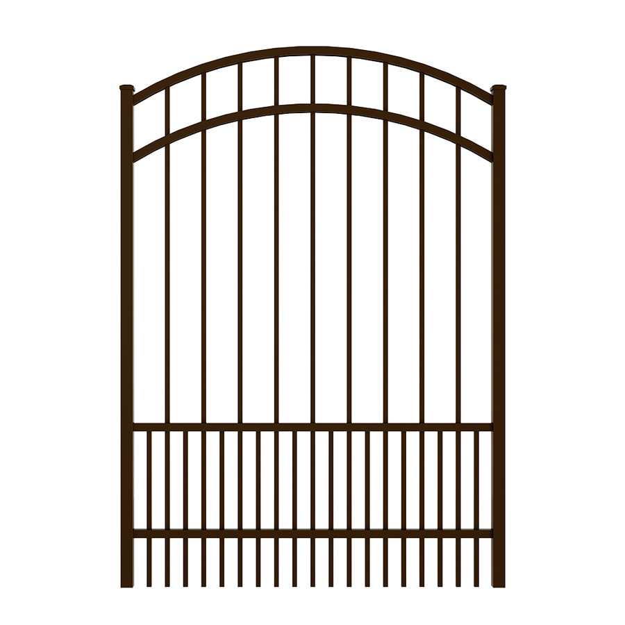 Ironcraft (Common: 5-ft x 4-ft; Actual: 5.5-ft x 3.9-ft) Bronze Powder Coated Aluminum Decorative Fence Gate