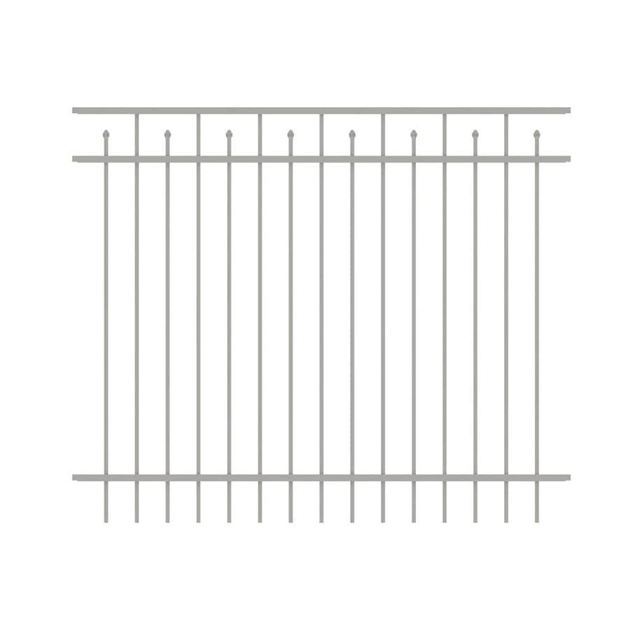 Ironcraft (Actual: 5-ft x 6-ft) Hempsted White Powder-Coated Aluminum Decorative Fence Panel