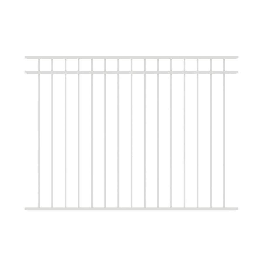 Ironcraft (Common: 4.5-ft x 6-ft; Actual: 4.5-ft x 6-ft) Berkshire White Powder-Coated Aluminum Decorative Fence Panel