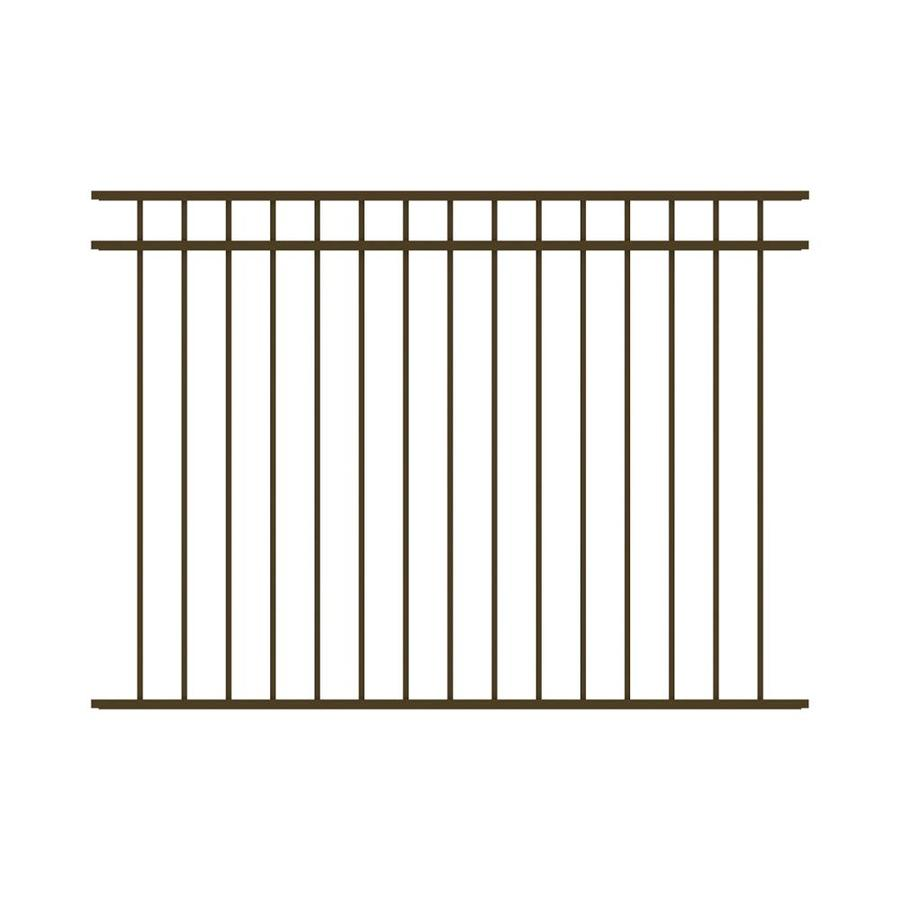 Ironcraft (Actual: 4.5-ft x 6-ft) Berkshire Bronze Powder-Coated Aluminum Decorative Fence Panel