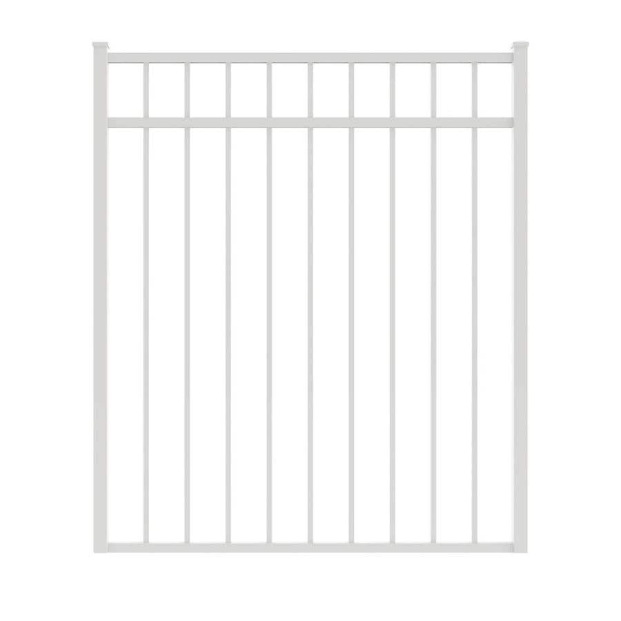 Ironcraft (Common: 4.3-ft x 4-ft; Actual: 4.3-ft x 3.92-ft) White Powder-Coated Aluminum Decorative Fence Gate