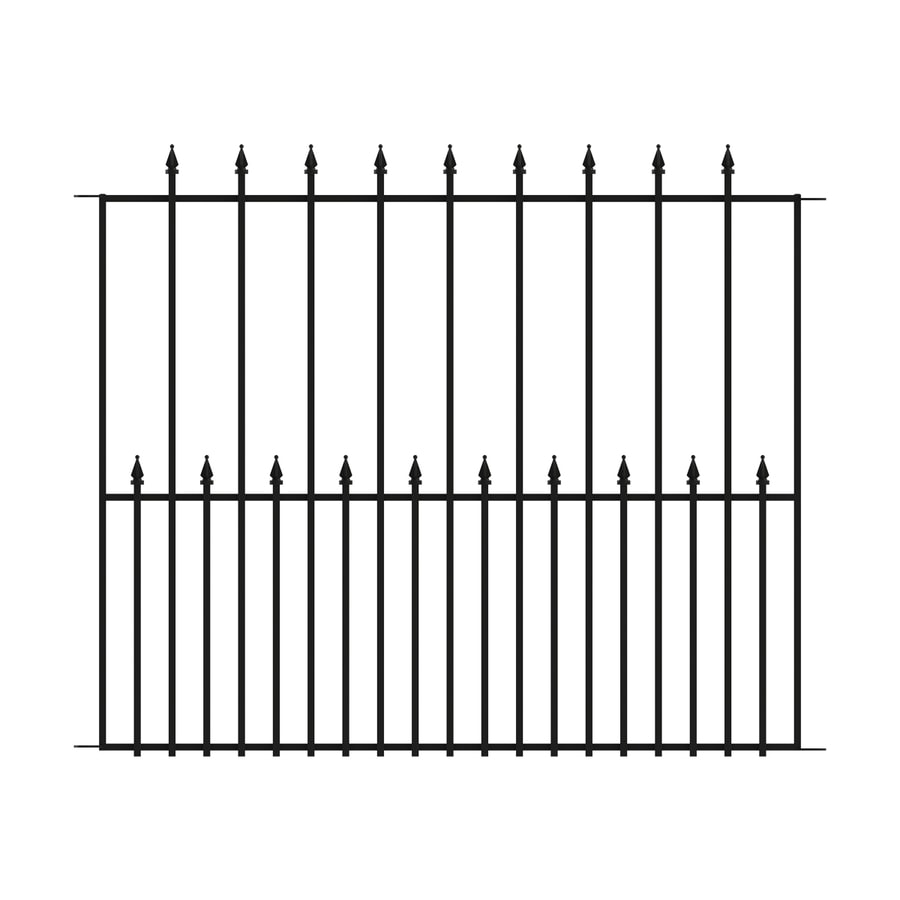 No Dig (Common: 3.4-ft x 4.1-ft; Actual: 3.4-ft x 4.1-ft) Grand Empire Powder-Coated Steel Decorative Fence Panel