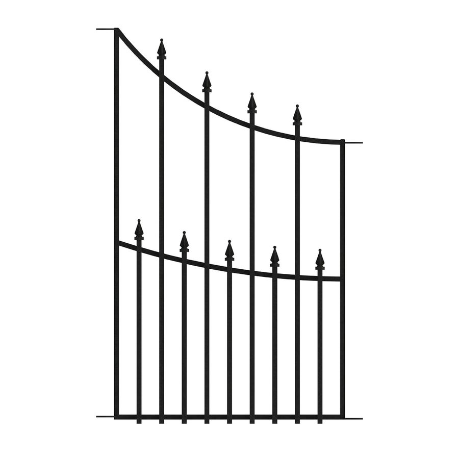 No Dig (Common: 3-ft x 1.8-ft; Actual: 3-ft x 1.8-ft) Grand Empire Black Powder-Coated Steel Decorative Fence Panel