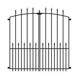 no dig grand empire xl steel decorative metal fence gate