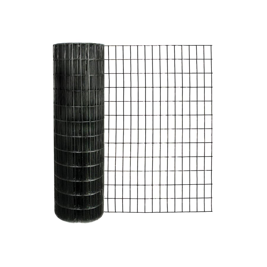 Garden Zone (Actual: 100-ft x 4-ft) Black PVC Coated Steel Welded Wire Rolled Fencing