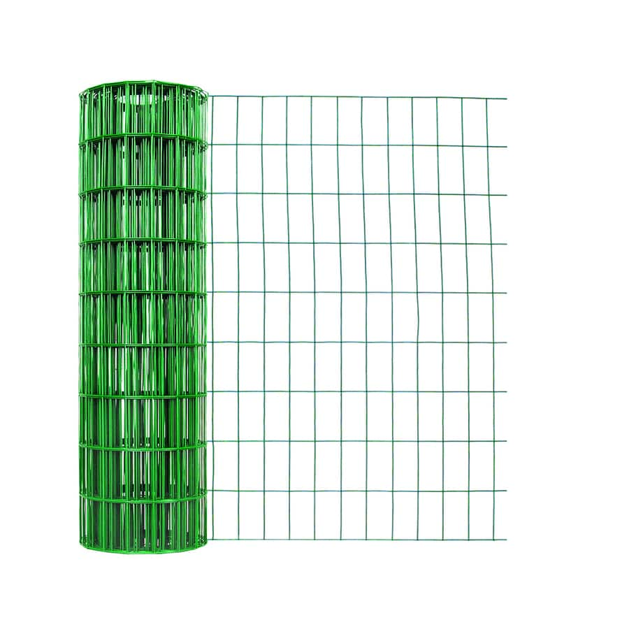 Garden Zone (Actual: 50-ft x 3-ft) Green PVC Coated Steel Welded Wire Rolled Fencing