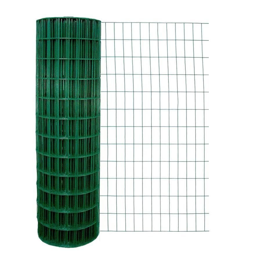 Garden Zone (Actual: 100-ft x 4-ft) Green PVC Coated Steel Welded Wire Rolled Fencing