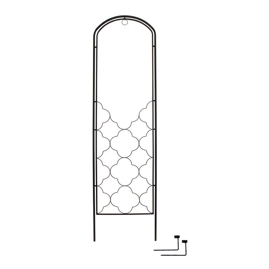 22-in W x 81-in H Powder-Coated Spanish Garden Trellis