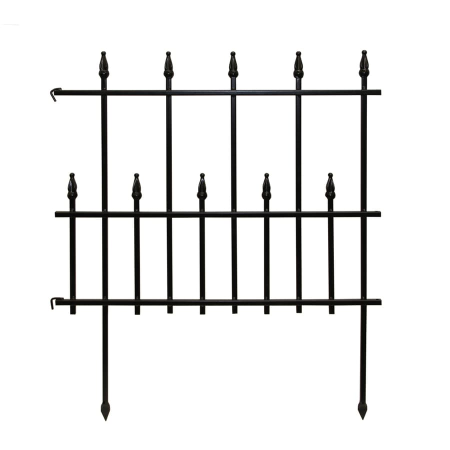 Empire Black Powder Coated Steel Garden Edging (Common: 0.03-in x 24-in x 28.35-in; Actual: 0.03-in x 24-in x 28.35-in)