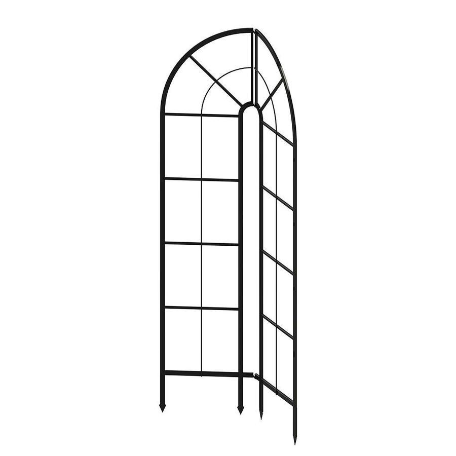 GARDEN CRAFT 36.2-in W x 72.4-in H Black Garden Trellis