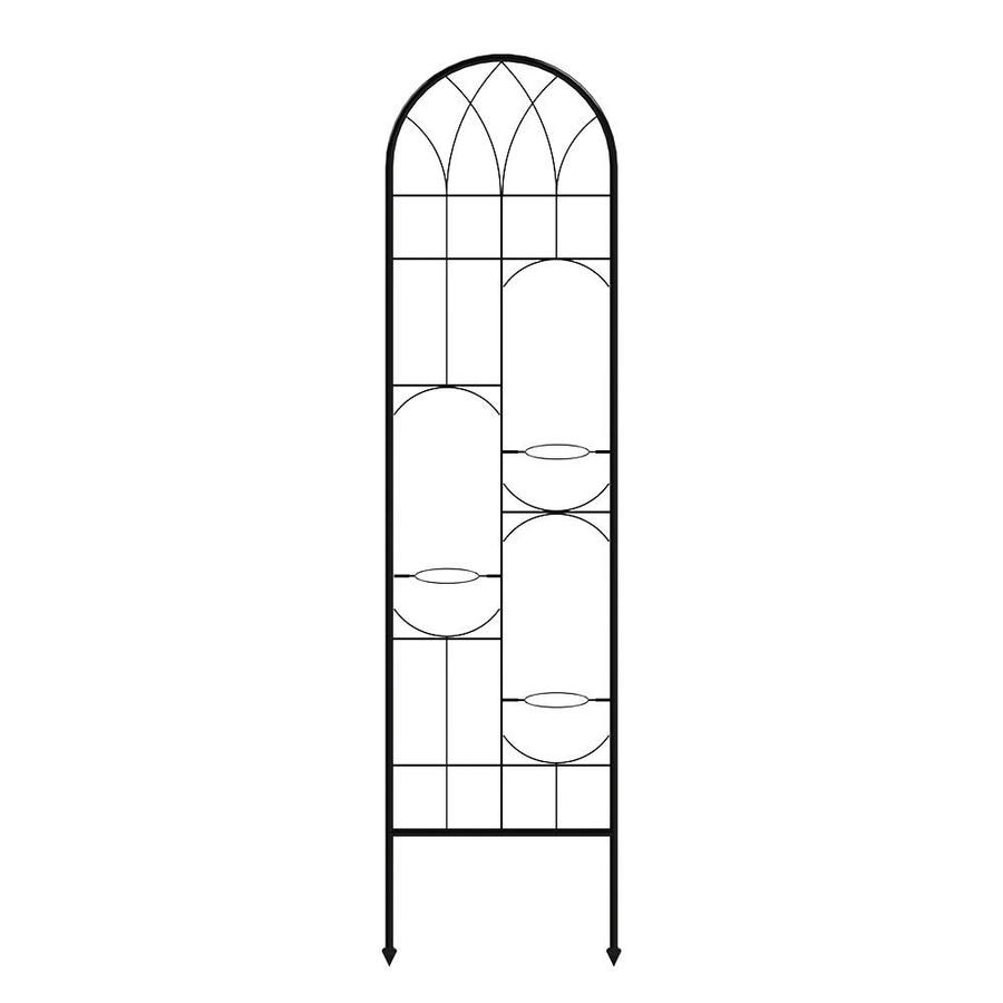 Shop GARDEN CRAFT 20 9 in W x 84 1 in H Black Gothic Garden Trellis