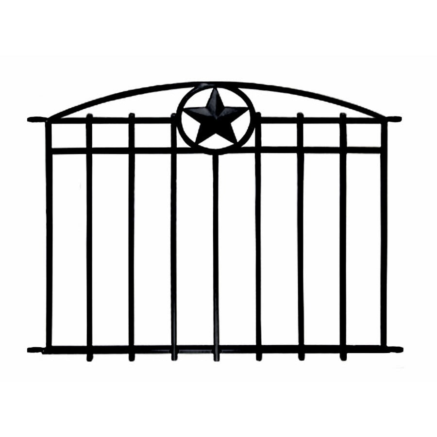 no dig steel decorative fence panel