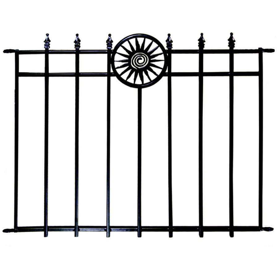 Shop no dig blackpowder coated steel decorative fence panel at no dig blackpowder coated steel decorative fence panel baanklon Gallery