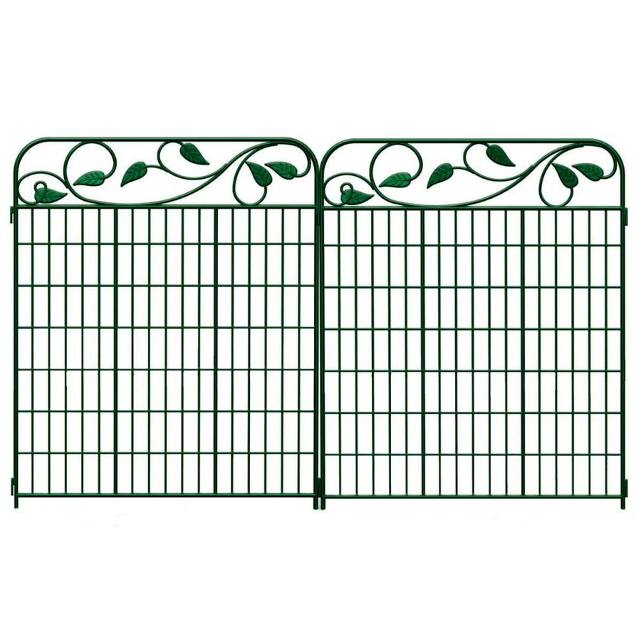Shop No Dig Green Steel Decorative Fence Panel at Lowes.com