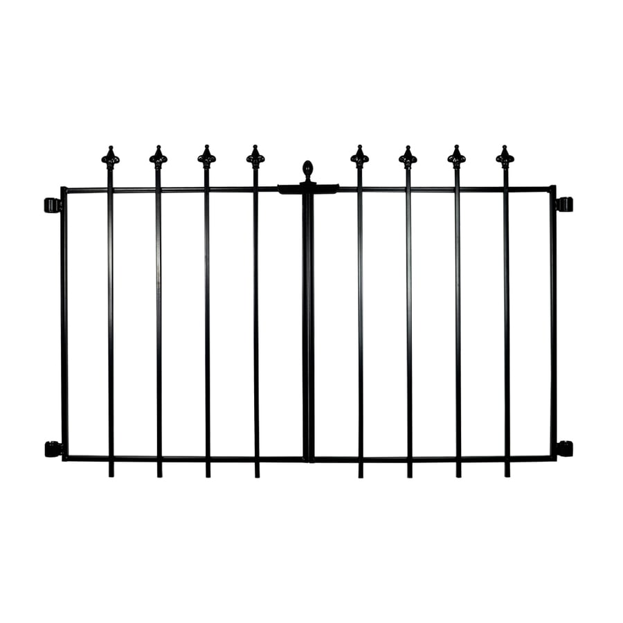 No Dig Empress Black Powder-Coated Steel Decorative Fence Gate (Common: 2.3-ft x 1.88-ft; Actual: 2.3-ft x 1.88-ft)