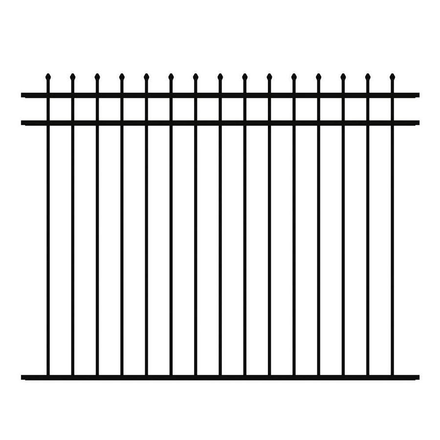 Ironcraft (Common: 4.6-ft x 6-ft; Actual: 4.6-ft x 6-ft) Orleans Deluxe Black Powder Coated Aluminum Decorative Fence Panel