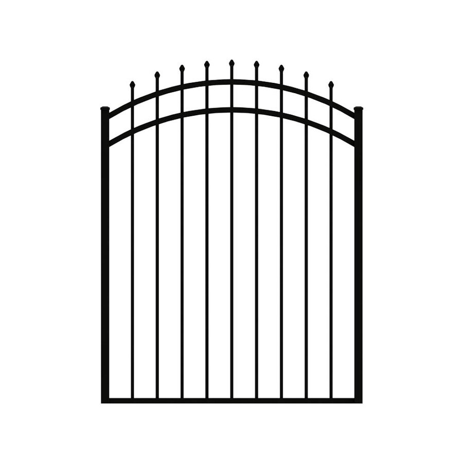 Ironcraft (Common: 5.13-ft x 3.9-ft; Actual: 5.13-ft x 3.9-ft) Powder-Coated Aluminum Decorative Fence Gate