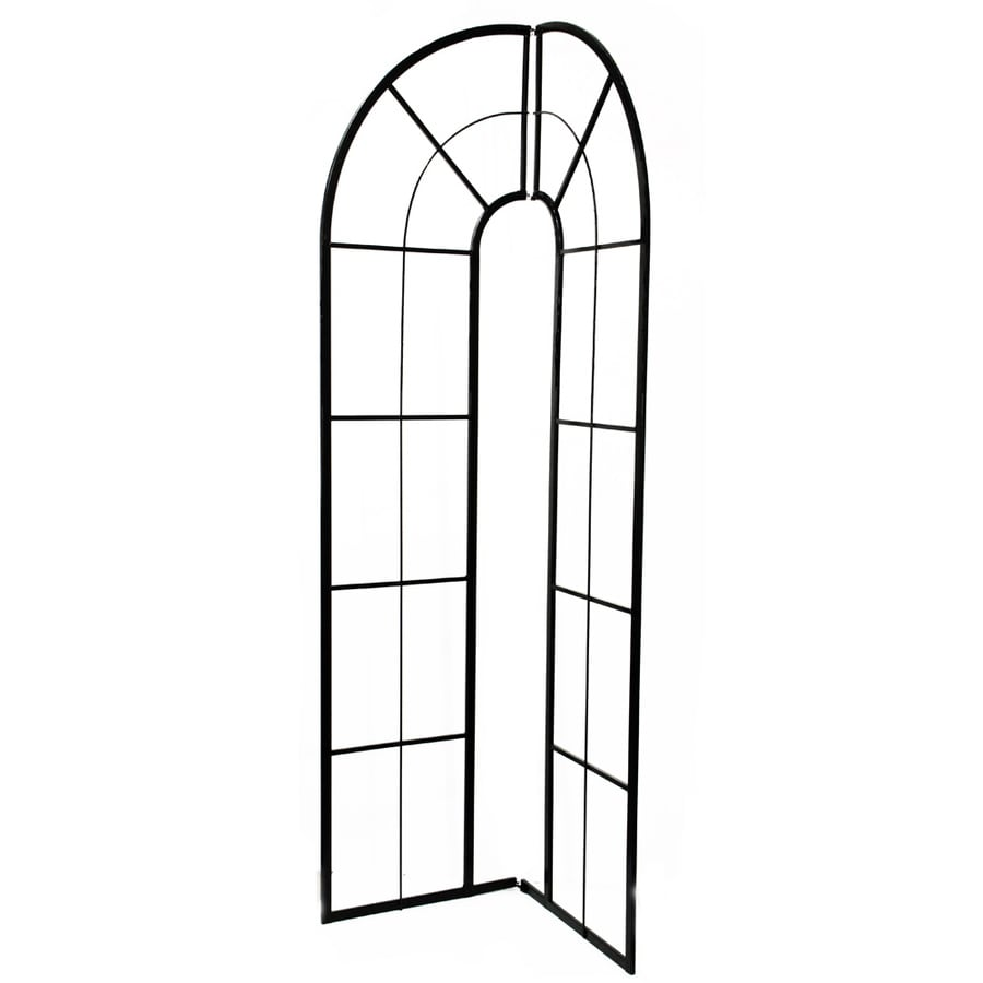 Garden Treasures 42.13-in W x 84.25-in H Powder-Coated Arched Garden Trellis