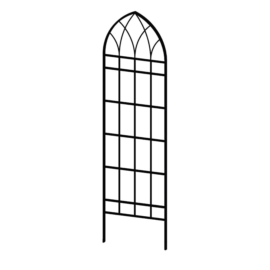 Shop Garden Treasures 21 9 in W x 80 9 in H Black Garden Trellis at
