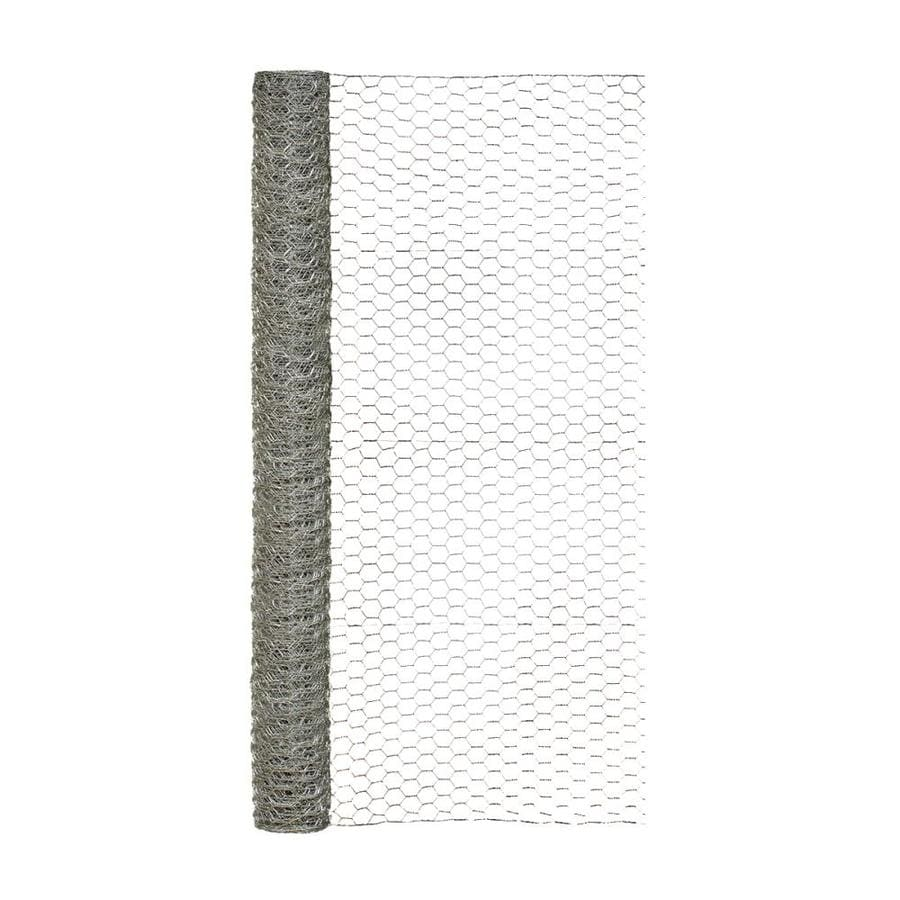 Blue Hawk Rolled Wire Galvanized Steel Poultry Netting (Common: 25-ft x 4-ft; Actual: 25-ft x 4-ft)