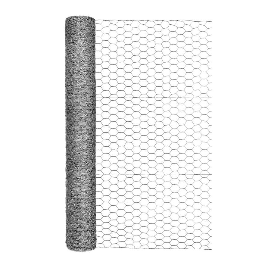 Blue Hawk (Actual: 50-ft x 3-ft) Rolled Wire Galvanized Steel Poultry Netting Rolled Fencing