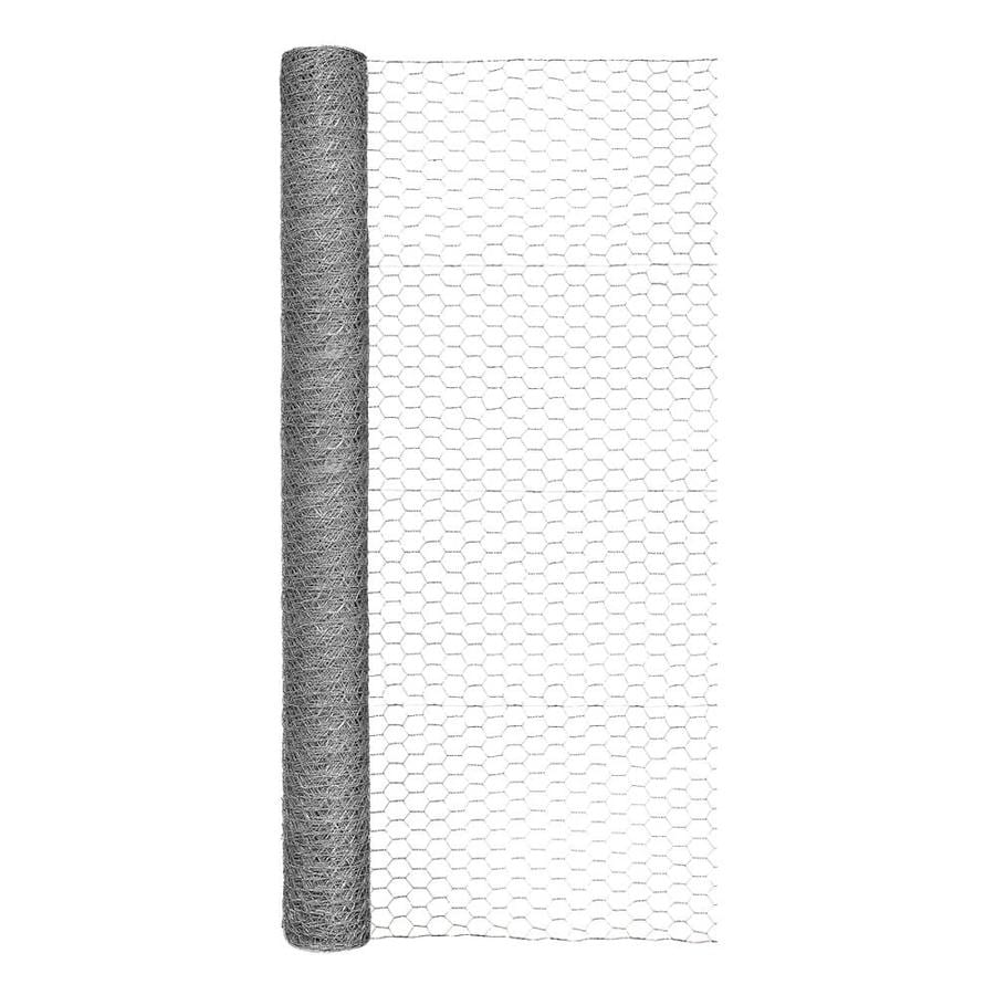 Blue Hawk Rolled Wire Galvanized Steel Poultry Netting (Common: 50-ft x 4-ft; Actual: 50-ft x 4-ft)