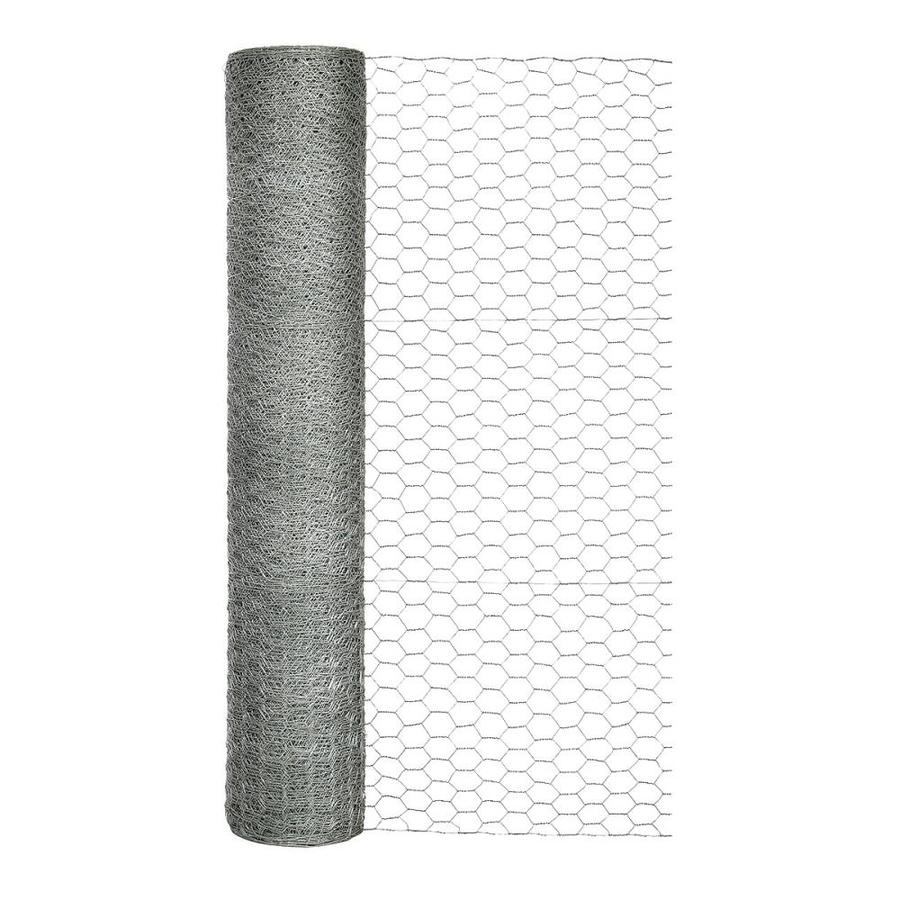 Blue Hawk (Actual: 150-ft x 3-ft) Rolled Wire Galvanized Steel Poultry Netting Rolled Fencing
