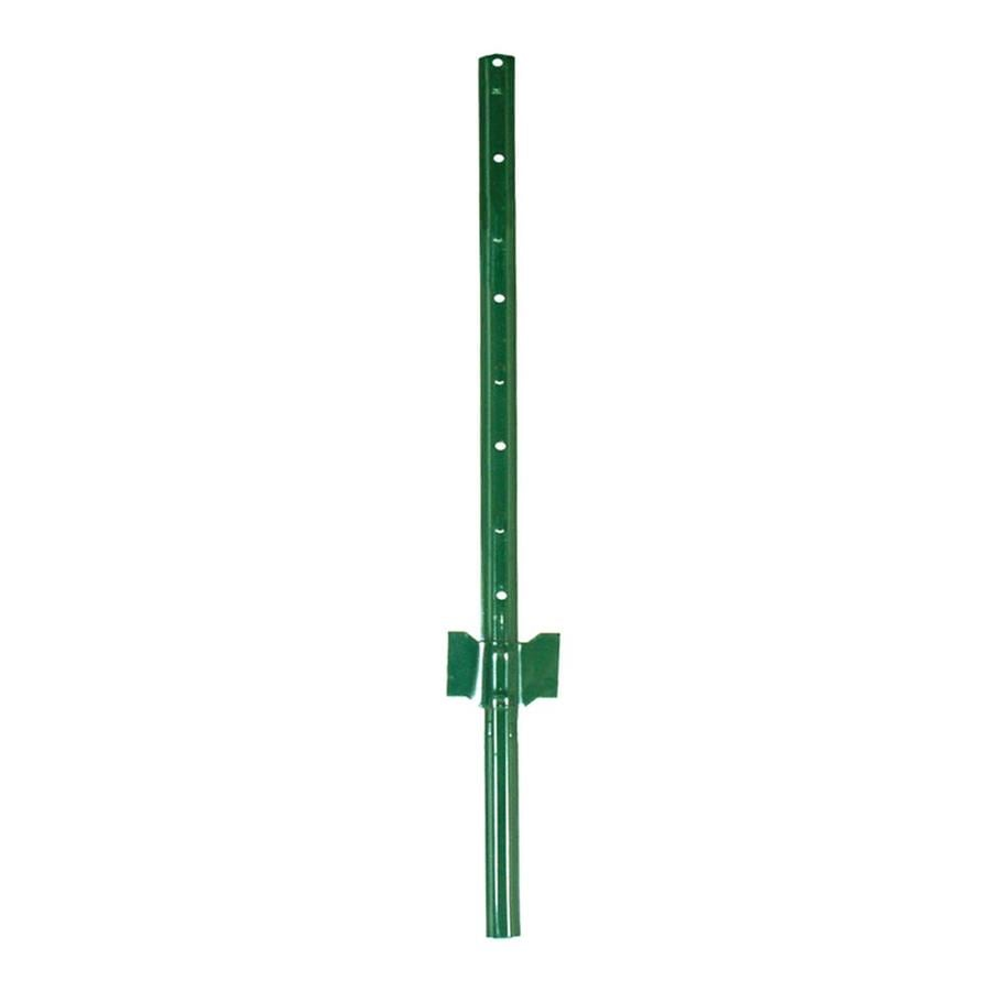 Blue Hawk (Common: 3-1/2-in x 3-ft; Actual: 0.6-in x 3.5-in x 3-ft) Powder-Coated Steel U-Post Post