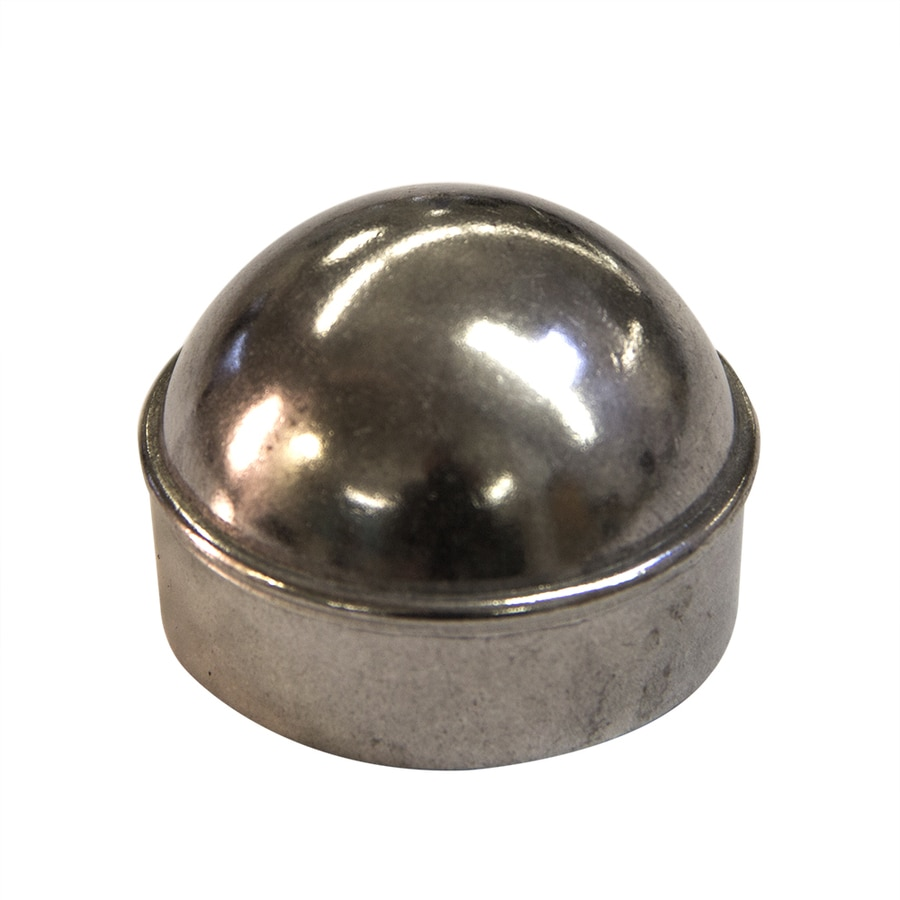 Blue Hawk (Fits Common Post Measurement: 1-5/8-in; Actual: 1.89-in x 1.89-in) Chain Link Accessory Polished Silver Aluminum Dome Cap