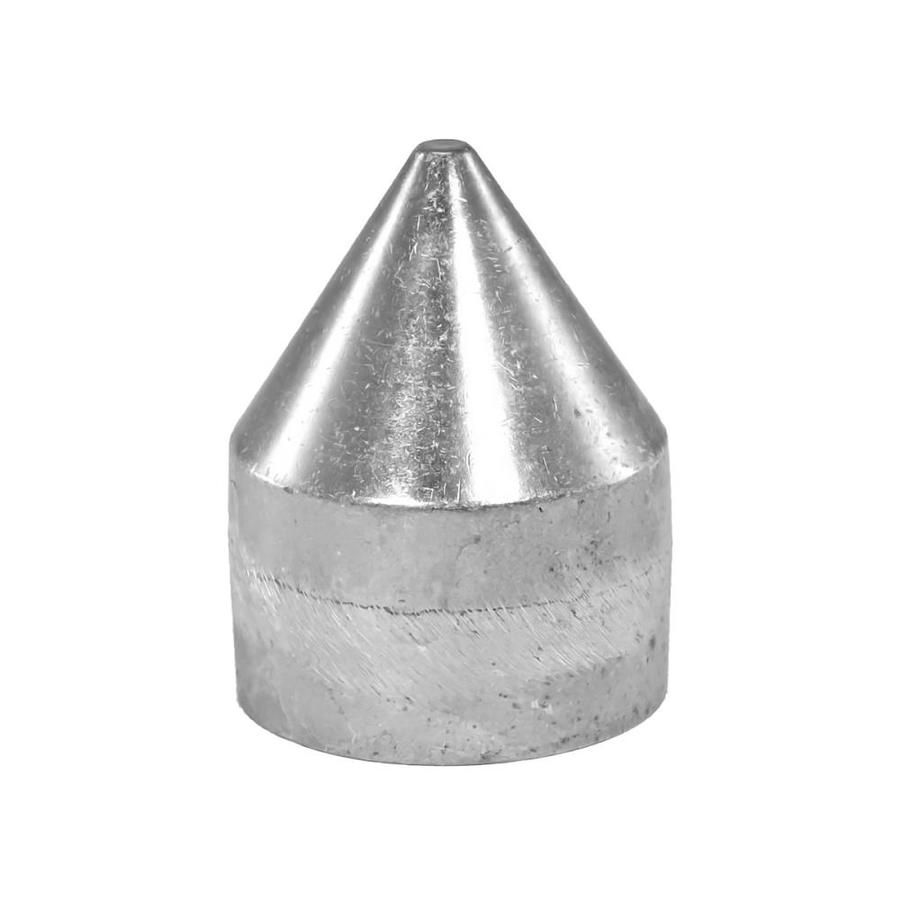 Blue Hawk (Fits Common Post Measurement: 2-3/8-in; Actual: 2.56-in x 3.54-in) Chain Link Accessory Polished Silver Aluminum Bullet Cap