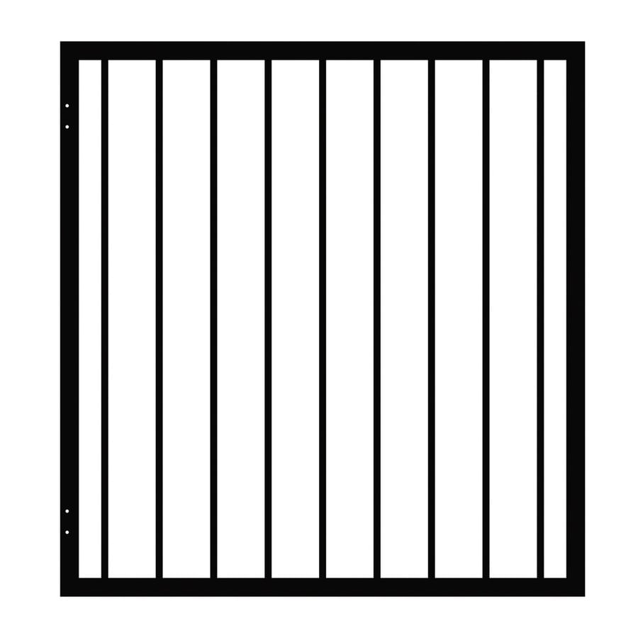 Ironcraft (Common: 3.9-ft x 3.67-ft; Actual: 3.9-ft x 3.67-ft) Black Powder-Coated Steel Decorative Fence Gate