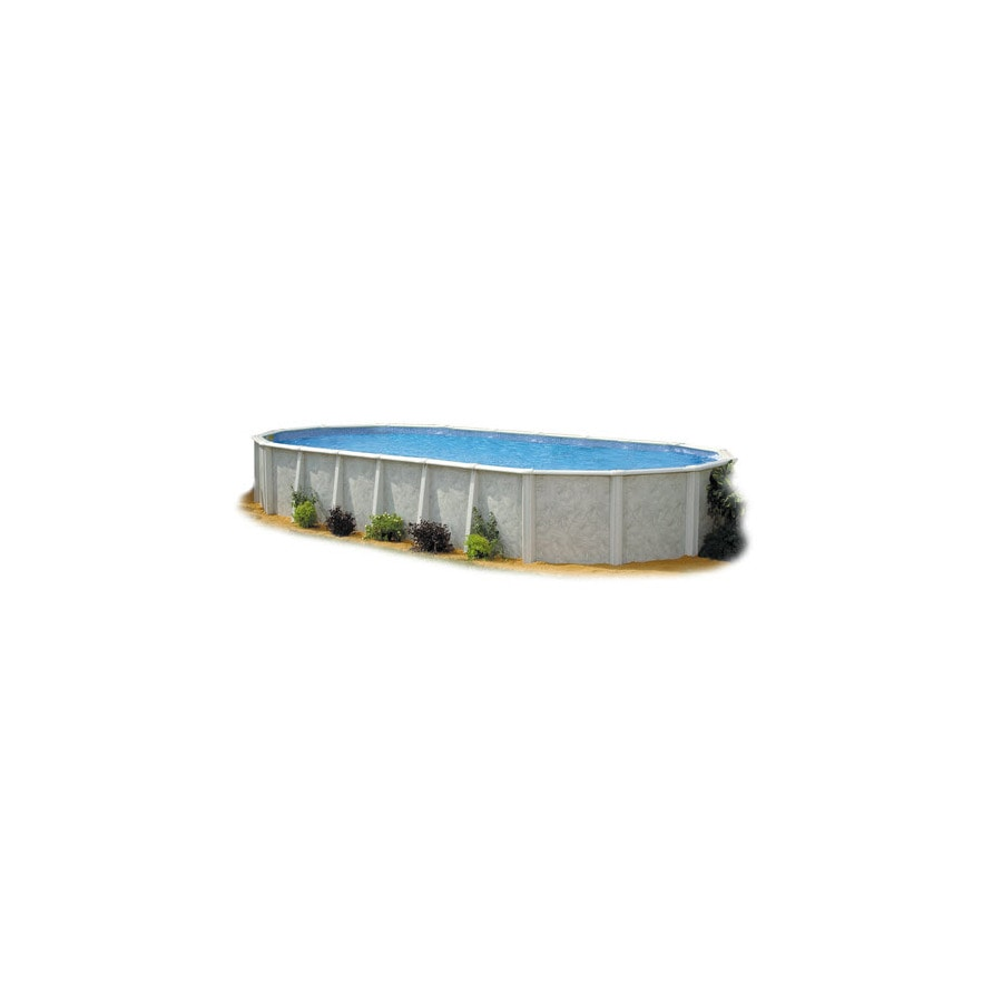 Embassy PoolCo Sierra Pines 33-ft x 18-ft x 52-in Oval Above-Ground Pool