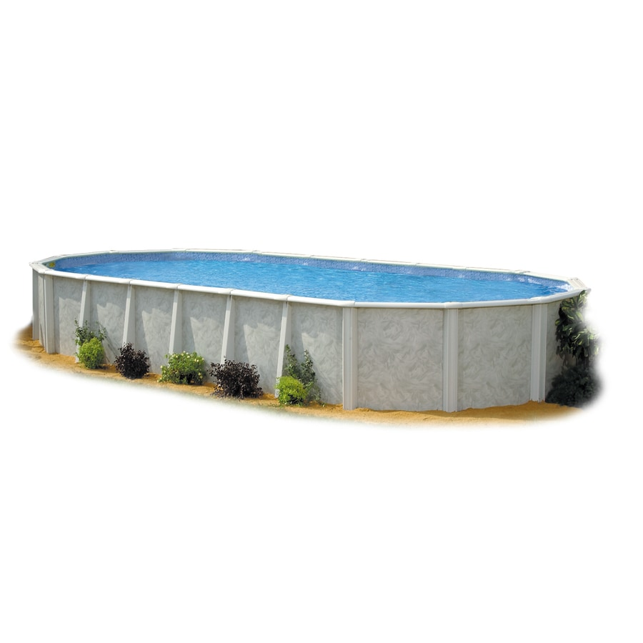 Shop embassy poolco meadow breeze 24 ft x 15 ft x 52 in for Pool oval aufstellbecken