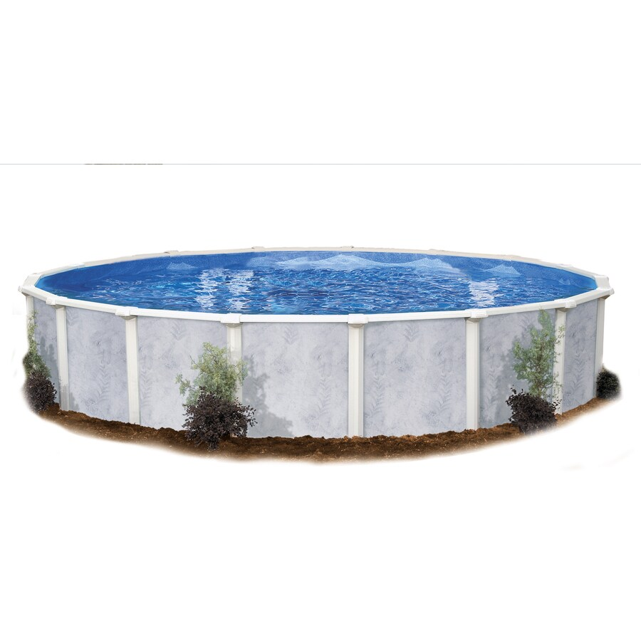 Embassy PoolCo Sierra Pines 24-ft x 24-ft x 52-in Round Above-Ground Pool