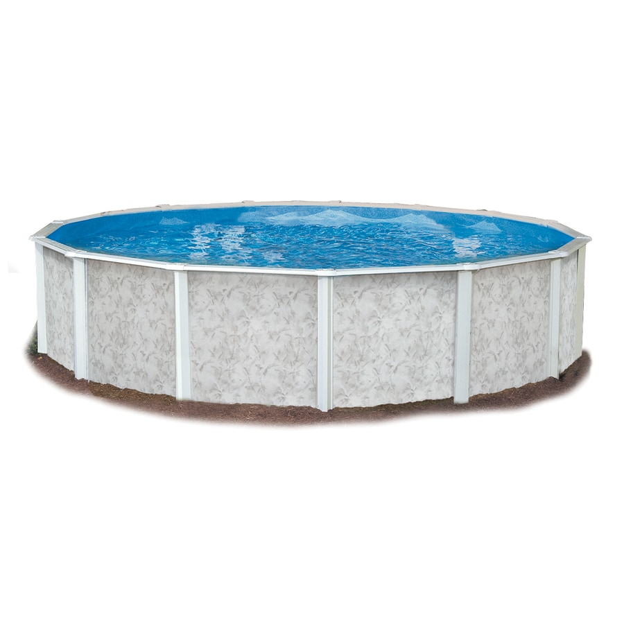 Embassy PoolCo Lakeshore 24-ft x 24-ft x 52-in Round Above-Ground Pool
