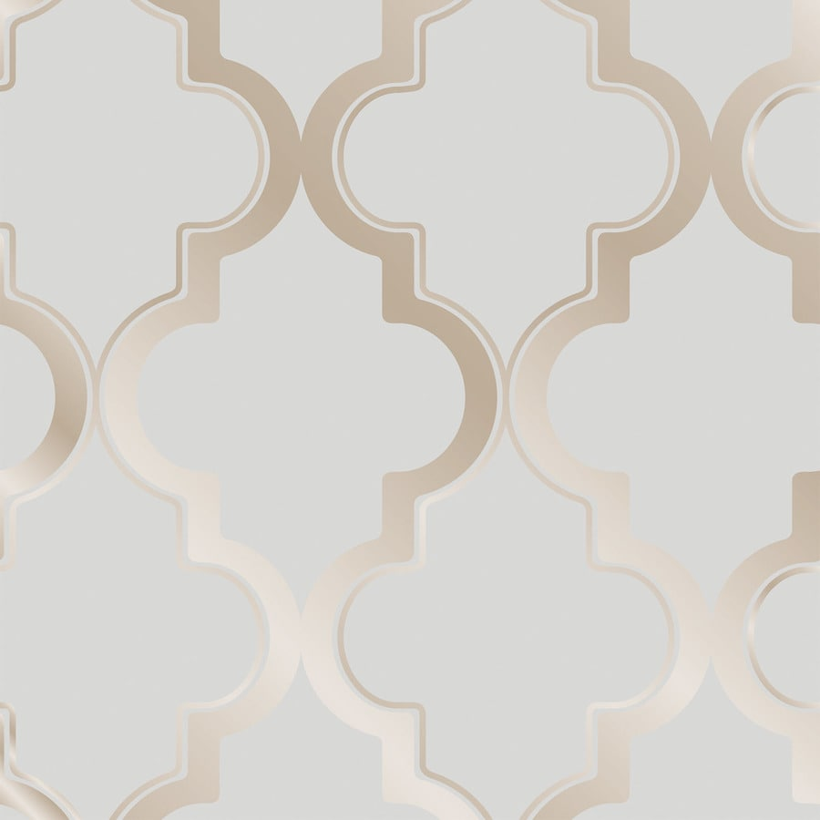 Tempaper Single Rolls Bronze Grey Vinyl Geometric Wallpaper