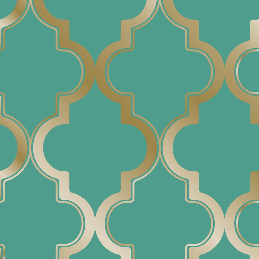 Tempaper Single Rolls Honey Jade Vinyl Geometric Wallpaper