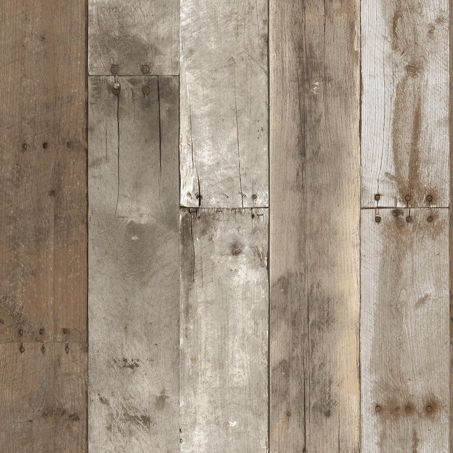 Tempaper Single Rolls Weathered Vinyl Wood Wallpaper