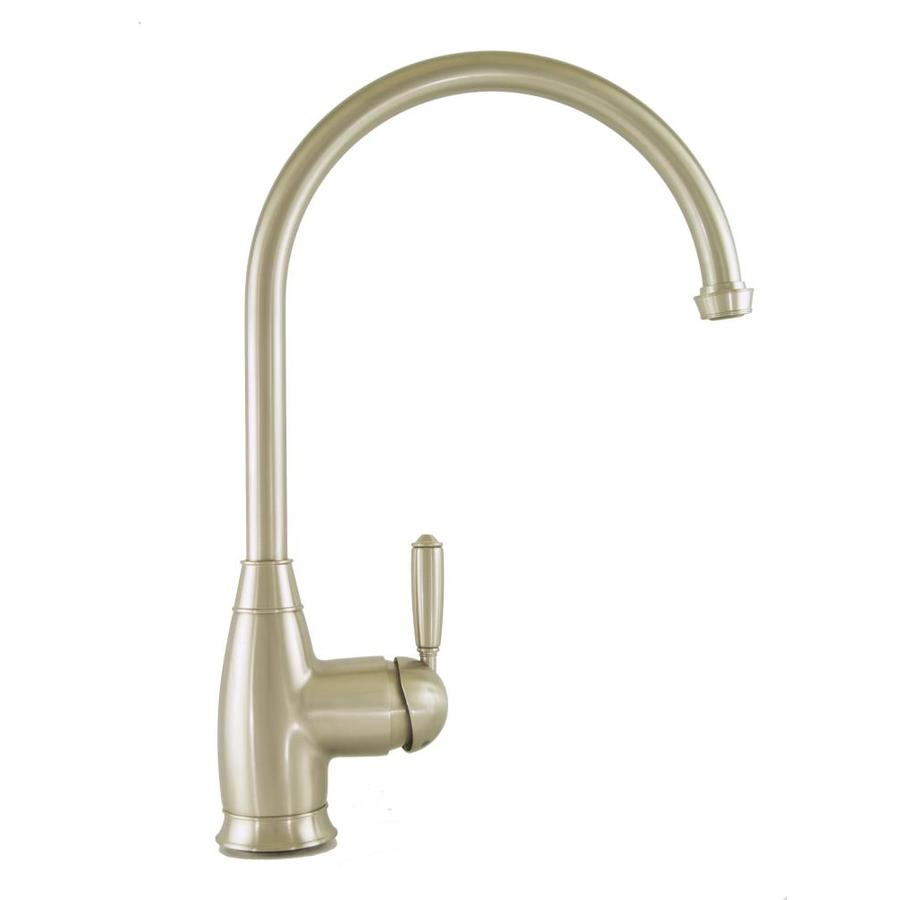 Mico Designs Chester Satin Nickel 1-Handle High-Arc Kitchen Faucet