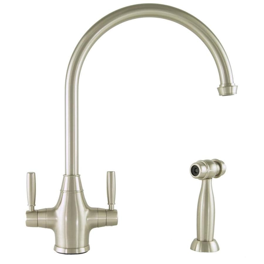 Mico Designs Churchill Satin Nickel 2-Handle High-Arc Kitchen Faucet