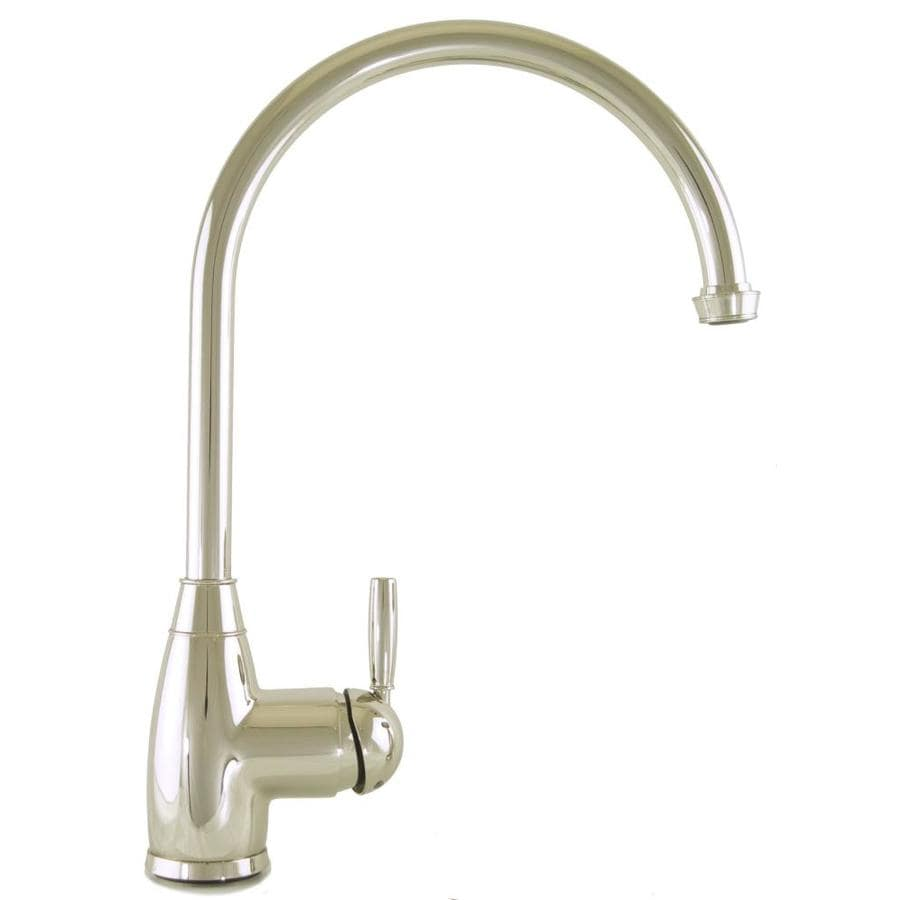 Shop Mico Designs Churchill Polished Nickel 1 Handle High Arc Kitchen Faucet At