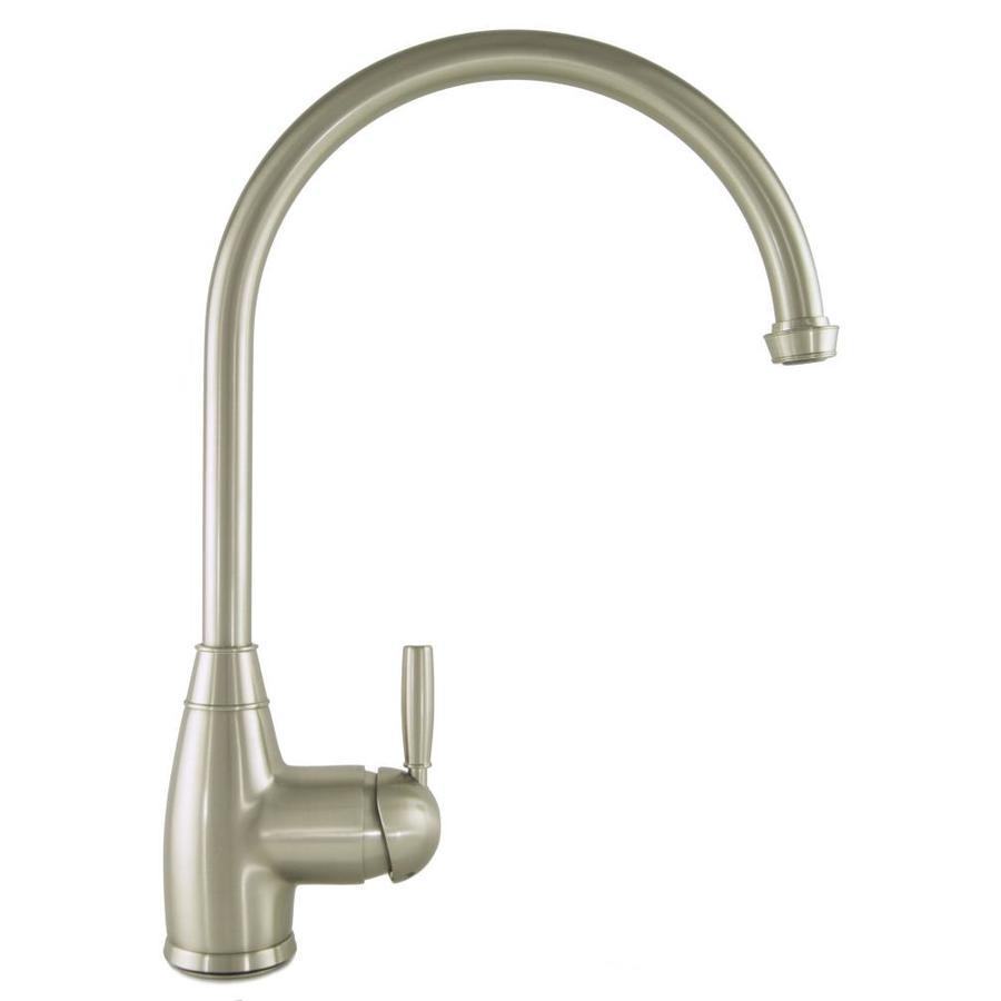 Mico Designs Churchill Satin Nickel 1-Handle High-Arc Kitchen Faucet