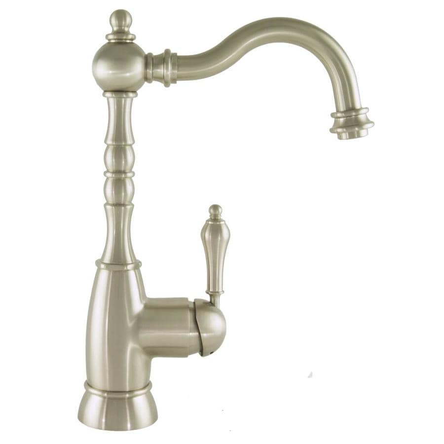 Mico Designs Braxton Satin Nickel 1-Handle Bar and Prep Faucet