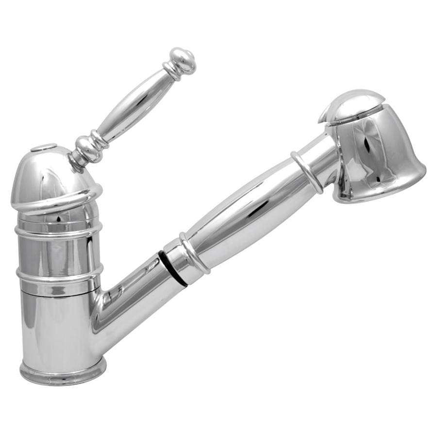 Mico Designs Braxton Polished Chrome 1-Handle Pull-Out Kitchen Faucet