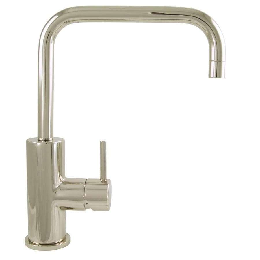 Shop Mico Designs Pro Chef Polished Nickel 1 Handle Pull Down Kitchen Faucet At