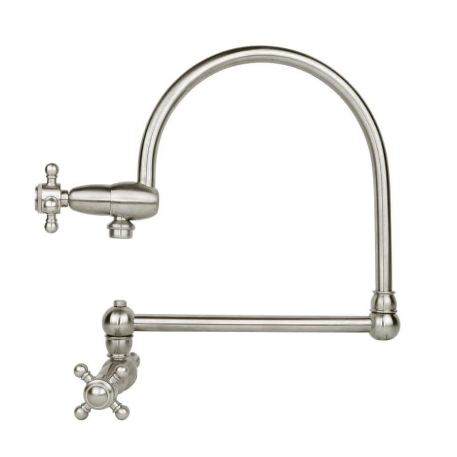 Mico Designs Pot Filler Satin Nickel 1-Handle Wall Mount High-Arc Kitchen Faucet
